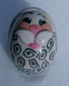 santa claus polymer clay egg