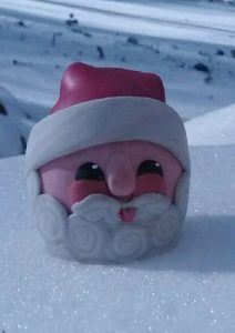santa claus polymer clay and egg shell egg
