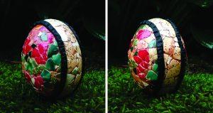 nail polish mosaic decorated egg