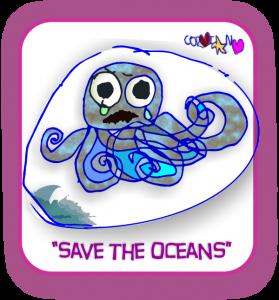 corins cartoons save the oceans octopus