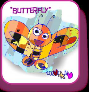 happy butterfly by corin